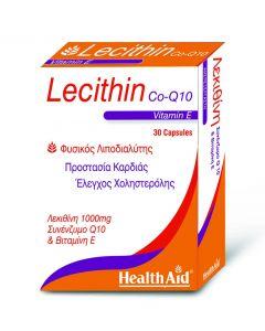 Health Aid Lecithin, Vitamin E & CoQ10 30 caps
