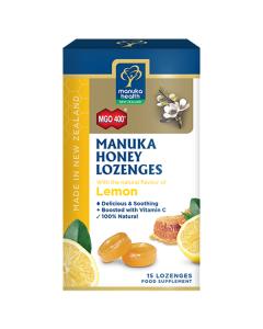 Manuka Health Manuka Honey Lozenges Lemon 400+ 15 lozenges
