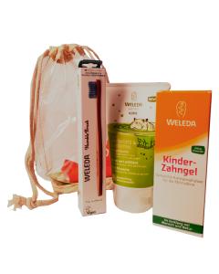 Weleda Kids 2 σε 1 Σαμπουάν Αφρόλουτρο Μοσχολέμονο 150 ml & Οδοντόκρεμα για Παιδιά 50 ml & Δώρο οδοντόβουρτσα humble