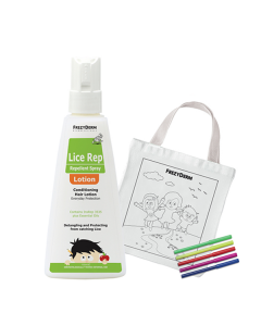 Frezyderm Lice Rep Lotion 150 ml & Free Fabric Painting Bag