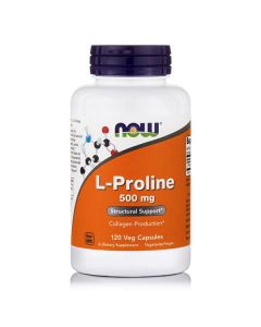 Now L-Proline 500 mg 120 Vcaps
