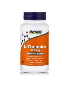 Now L-Theanine 100 mg  90 Vcaps