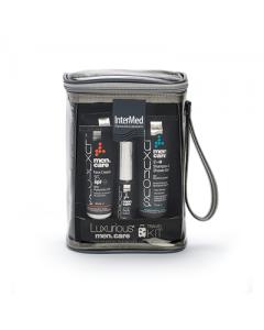 Intermed Luxurious Men's care Travel Kit Face Cream 50 ml & After shave 75 ml & Shampoo Shower gel 75 ml & Intimo 75 ml & Body Splash 30 ml