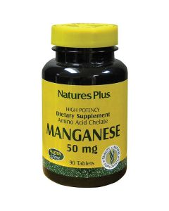 Nature's Plus Manganese 50 mg amino acid chelate 90 tabs