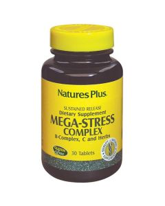 Nature's Plus Mega-Stress Complex B-Complex Vit C & Herbs sustained release 30 tabs