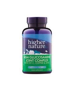 Higher Nature MSM Glucosamine Joint Complex with Vit C Copper & Zinc 90 tabs