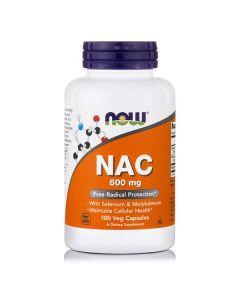 Now NAC 600 mg N-Acetyl Cysteine w/Selenium & Molybdenium 100 caps