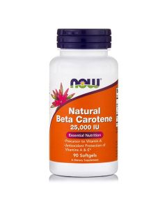 Now Natural Beta Carotene 25000 IU 90 softgels