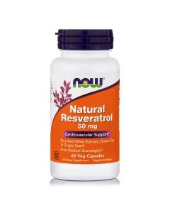 Now Natural Resveratrol with Red Wine extract 60 Vcaps