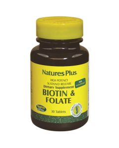 Nature's Plus Biotin & Folate 30 tabs