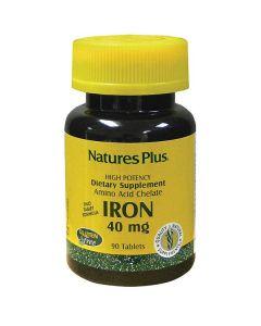 Nature's Plus Iron 40 mg amino acid chelate 90 tabs