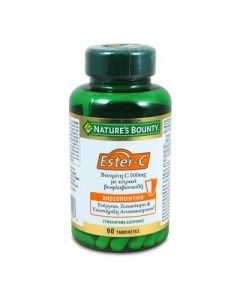 Nature's Bounty Ester-C 500 mg with citrus bioflavonoids 90 tabs