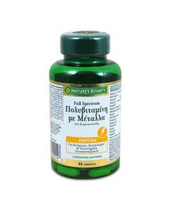 Nature's Bounty Full Spectrum Multivitamin with Metals and Carotenois 60 tabs