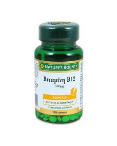 Nature's Bounty Βιταμίνη B12 500 μg 100 tabs