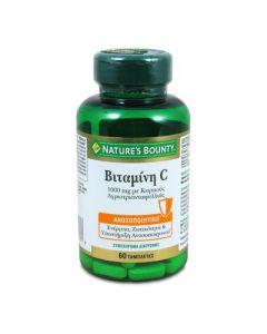 Nature's Bounty Βιταμίνη C 1000 mg με Καρπούς Αγριοτριανταφυλλιάς 60 tabs