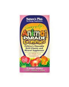 Nature's Plus Animal Parade Gummies 75 gummy animals cherry orange grape