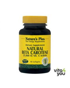 Nature's Plus Natural Beta Carotene 25000 IU 90 softgels
