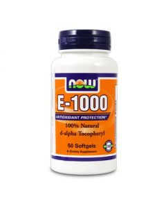 Now Vitamin E-1000 d-alpha Tocopheryl 50 softgels