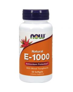 Now Vitamin E-1000 mixed tocopherols 50 softgels