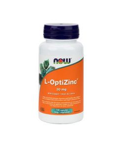 Now L-OptiZinc 30 mg with copper 100 vcaps