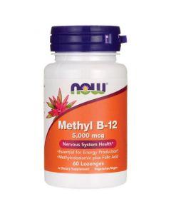 Now Methyl B-12 5000 mcg plus folic acid 60 Lozenges