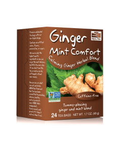 Now Real Tea Ginger Mint Comfort Tea Caffeine free 24 Bags