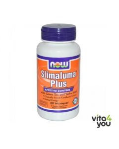Now Slimaluma Plus with Green Tea and Yerba Mate 60 Vcaps