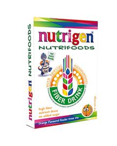 Nutrigen Nutrifoods Fiber Based Powder Drink Mix Orange 20 servings