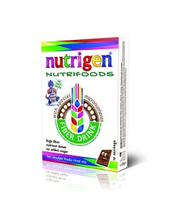 Nutrigen Nutrifoods Fiber Based Powder Drink Mix Chocolate 20 servings
