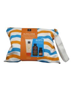 Apivita Suncare Oil Balance Tinted SPF30 50 ml & Purifying gel 75 ml & Suncare Hair oil 20 ml