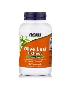 Now Olive Leaf Extract Extra Strength w/Echinacea 100 mg 50 vcaps