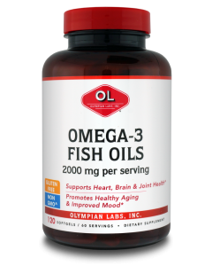 Olympian Labs Enteric Coated Omega 3 fish oil 120 softgels