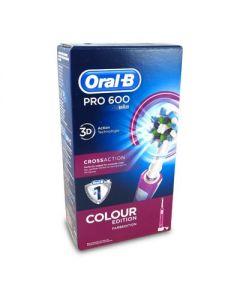 Oral-B Pro 600 3D Cross Action Color edition Purple