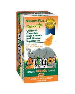 Nature's Plus Animal Parade Orange Flavor 90 animals