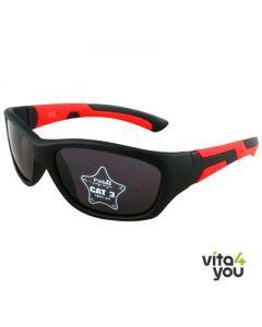 P'titboo Kids Sunglasses Black/Red age 4-6