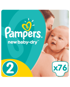 Pampers Active Baby Dry Mini no2 (3-6 kg) 76 nappies