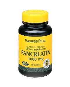 Nature's Plus Pancreatin 1000 mg quadruple strength 60 tabs