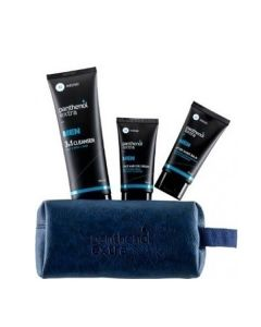 Panthenol Extra Gift for Him Men 3 in 1 Cleanser 200 ml & After Shave 75 ml & Face-Eye Cream 75 ml necessaire blue