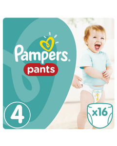 Pampers Pants Maxi no4 (9-14 kg) 16 nappies