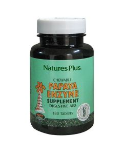 Nature's Plus Chewable Papaya Enzyme 180 tabs