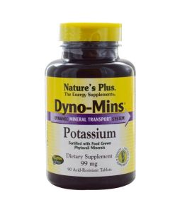 Nature's Plus Dyno-Mins Potassium 99 mg 90 tabs