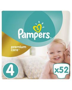 Pampers Premium Care Maxi no4 (8-14 kg) 52 nappies