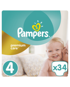 Pampers Premium Care Maxi no4 (8-14 kg) 34 nappies