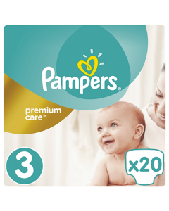 Pampers Premium Care Midi no3 (5-9 kg) 20 nappies