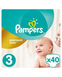 Pampers Premium Care Midi no3 (5-9 kg) 40 nappies