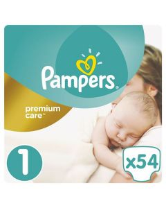 Pampers Premium Care Newborn no1 (2-5 kg) 54 nappies