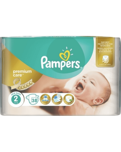 Pampers Premium Care Mini no2 (3-6 kg) 38 nappies