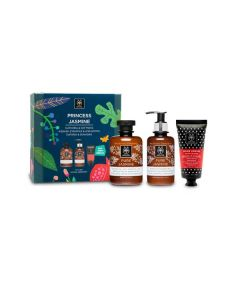 Apivita Princess Jasmine Shower gel 300 ml & Pure Jasmine Body Milk 200 ml & Hand Cream Jasmine Propolis 50 ml