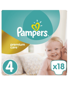Pampers Premium Care Maxi no4 (8-14 kg) 18 nappies