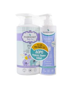 Pharmasept Baby Care Mild Bath 1 lt & Hygienic Shower 500 ml